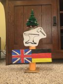 Students create colorful totems based on their family history