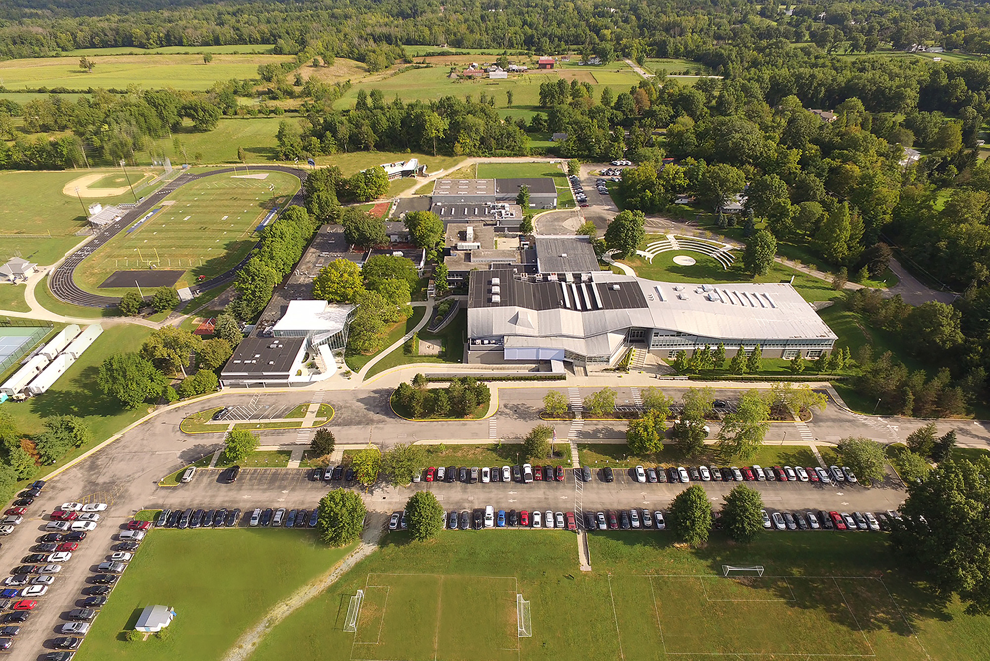 Birdseye view of campus