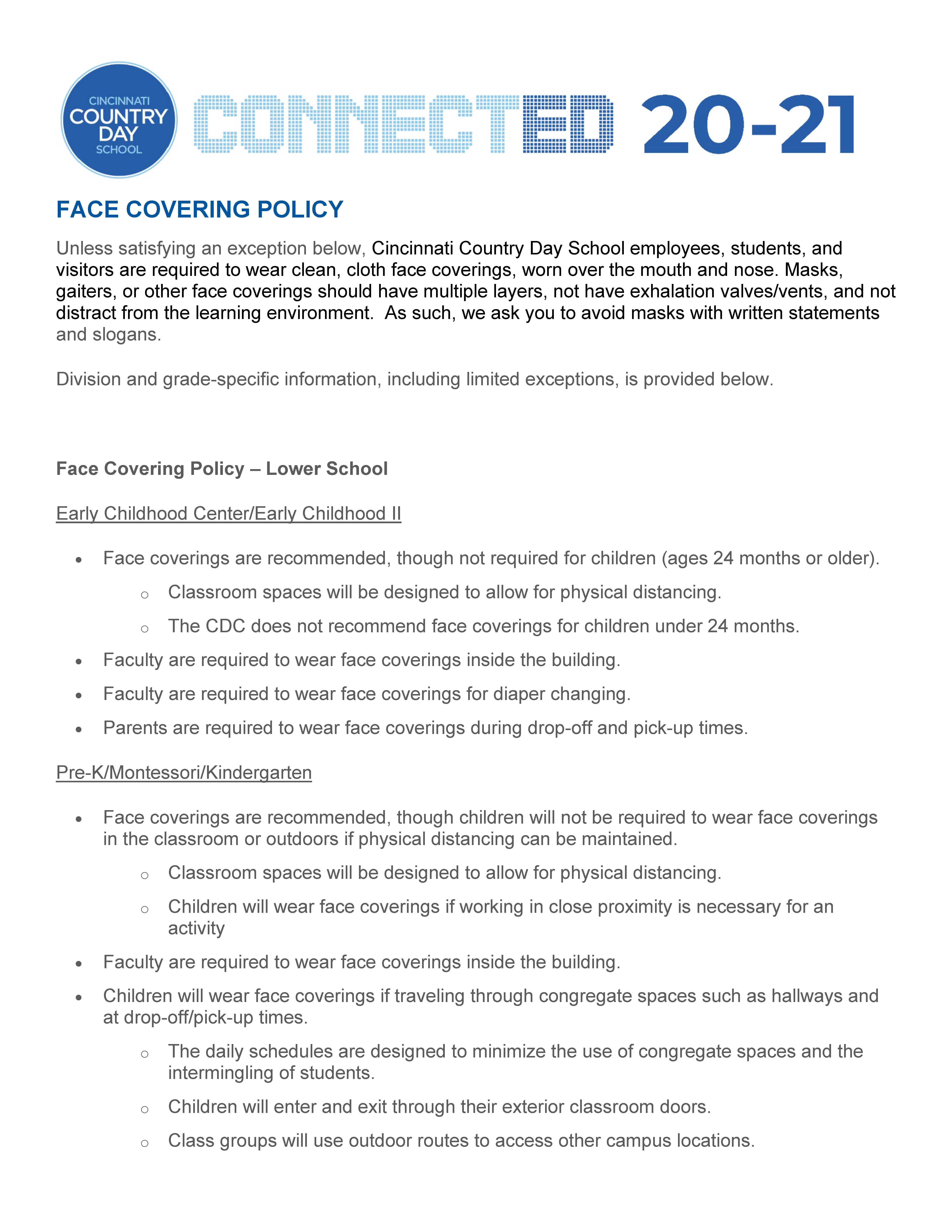 face covering policy 1