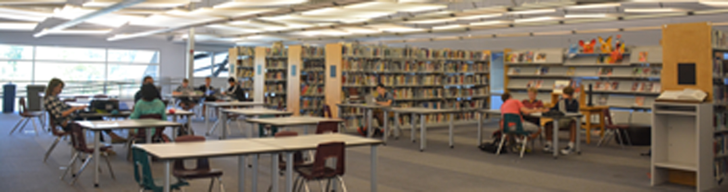 middle school and upper school library room